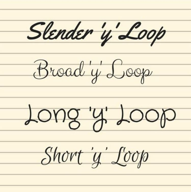 Long And Slender Writing  Letters